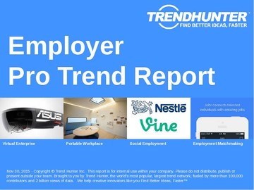 Employer Trend Report and Employer Market Research