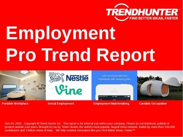 Employment Trend Report and Employment Market Research