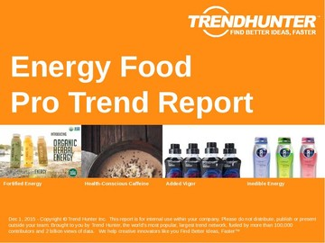Energy Food Trend Report and Energy Food Market Research