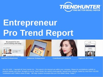 Entrepreneur Trend Report and Entrepreneur Market Research