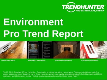 Environment Trend Report and Environment Market Research