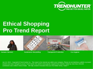 Ethical Shopping Trend Report and Ethical Shopping Market Research