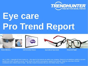 Eye care Trend Report and Eye care Market Research