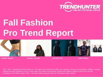 Fall Fashion Trend Report and Fall Fashion Market Research