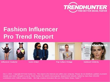 Fashion Influencer Trend Report and Fashion Influencer Market Research