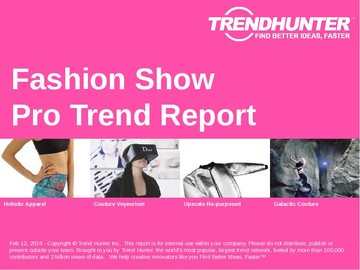Fashion Show Trend Report and Fashion Show Market Research