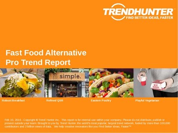 Fast Food Alternative Trend Report and Fast Food Alternative Market Research