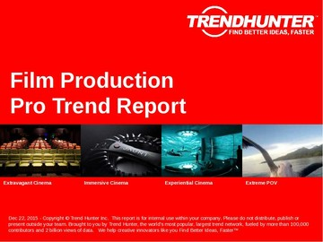 Film Production Trend Report and Film Production Market Research
