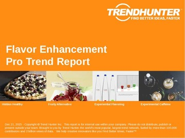 Flavor Enhancement Trend Report and Flavor Enhancement Market Research