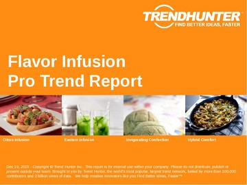 Flavor Infusion Trend Report and Flavor Infusion Market Research