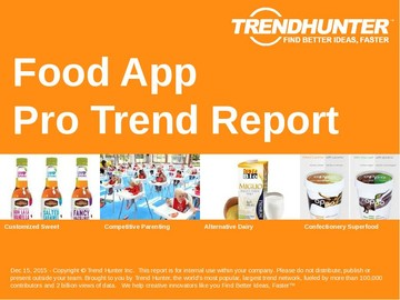 Food App Trend Report and Food App Market Research