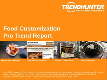 Food Customization Trend Report and Food Customization Market Research