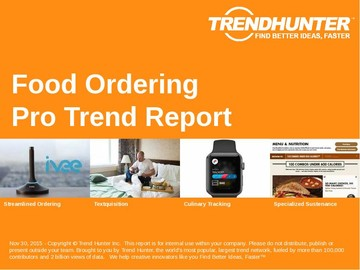 Food Ordering Trend Report and Food Ordering Market Research