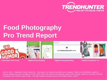 Food Photography Trend Report and Food Photography Market Research