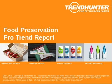 Food Preservation Trend Report and Food Preservation Market Research