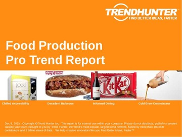 Food Production Trend Report and Food Production Market Research