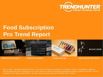 Food Subscription Trend Report and Food Subscription Market Research