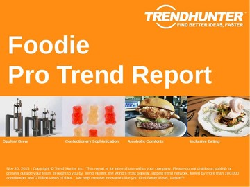 Foodie Trend Report and Foodie Market Research