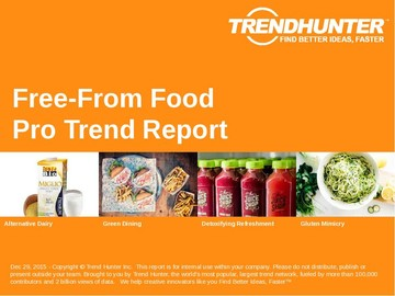 Free-From Food Trend Report and Free-From Food Market Research