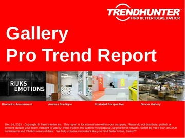 Gallery Trend Report and Gallery Market Research