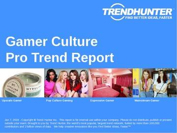 Gamer Culture Trend Report and Gamer Culture Market Research