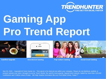 Gaming App Trend Report and Gaming App Market Research
