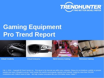 Gaming Equipment Trend Report and Gaming Equipment Market Research
