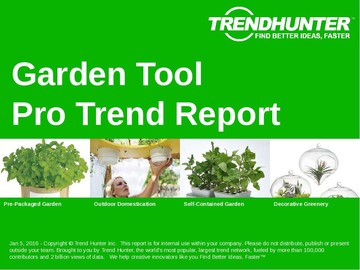 Garden Tool Trend Report and Garden Tool Market Research