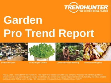 Garden Trend Report and Garden Market Research