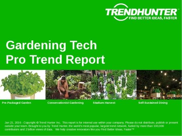 Gardening Tech Trend Report and Gardening Tech Market Research