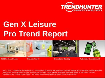 Gen X Leisure Trend Report and Gen X Leisure Market Research