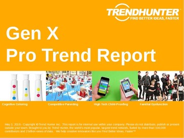 Gen X Trend Report and Gen X Market Research