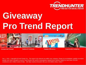 Giveaway Trend Report and Giveaway Market Research