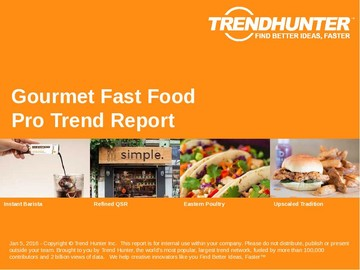 Gourmet Fast Food Trend Report and Gourmet Fast Food Market Research
