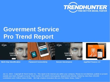 Goverment Service Trend Report and Goverment Service Market Research