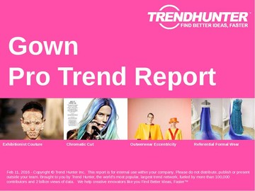 Gown Trend Report and Gown Market Research