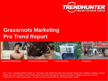 Grassroots Marketing Trend Report and Grassroots Marketing Market Research