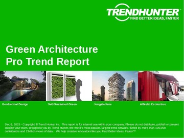 Green Architecture Trend Report and Green Architecture Market Research