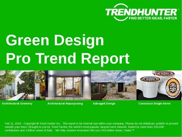 Green Design Trend Report and Green Design Market Research