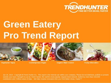 Green Eatery Trend Report and Green Eatery Market Research