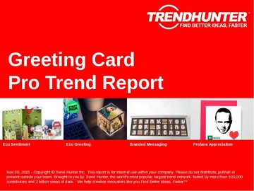 Greeting Card Trend Report and Greeting Card Market Research