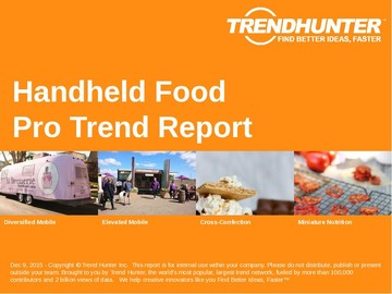 Handheld Food Trend Report and Handheld Food Market Research