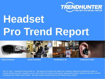 Headset Trend Report and Headset Market Research