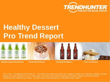 Healthy Dessert Trend Report and Healthy Dessert Market Research