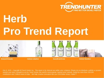 Herb Trend Report and Herb Market Research