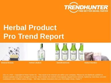 Herbal Product Trend Report and Herbal Product Market Research