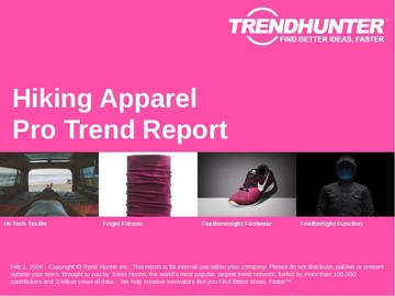 Hiking Apparel Trend Report and Hiking Apparel Market Research