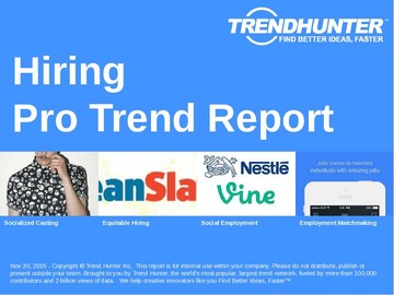 Hiring Trend Report and Hiring Market Research