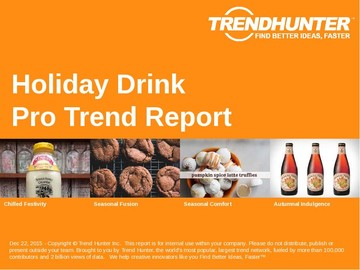 Holiday Drink Trend Report and Holiday Drink Market Research