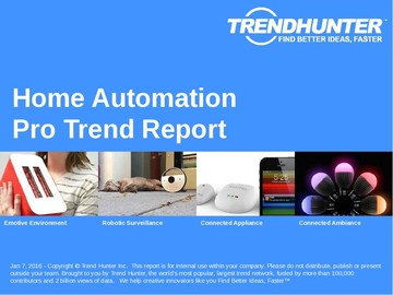 Home Automation Trend Report and Home Automation Market Research